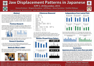 Jaw Displacement Patterns in Japanese