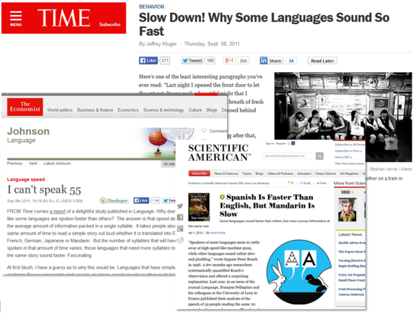 """A smattering of articles reporting on """"scientists' findings"""""""